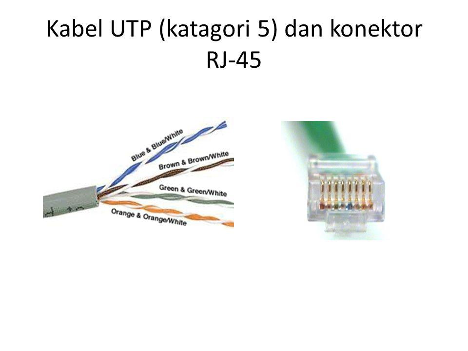 Kabel UTP (katagori 5) dan konektor RJ-45