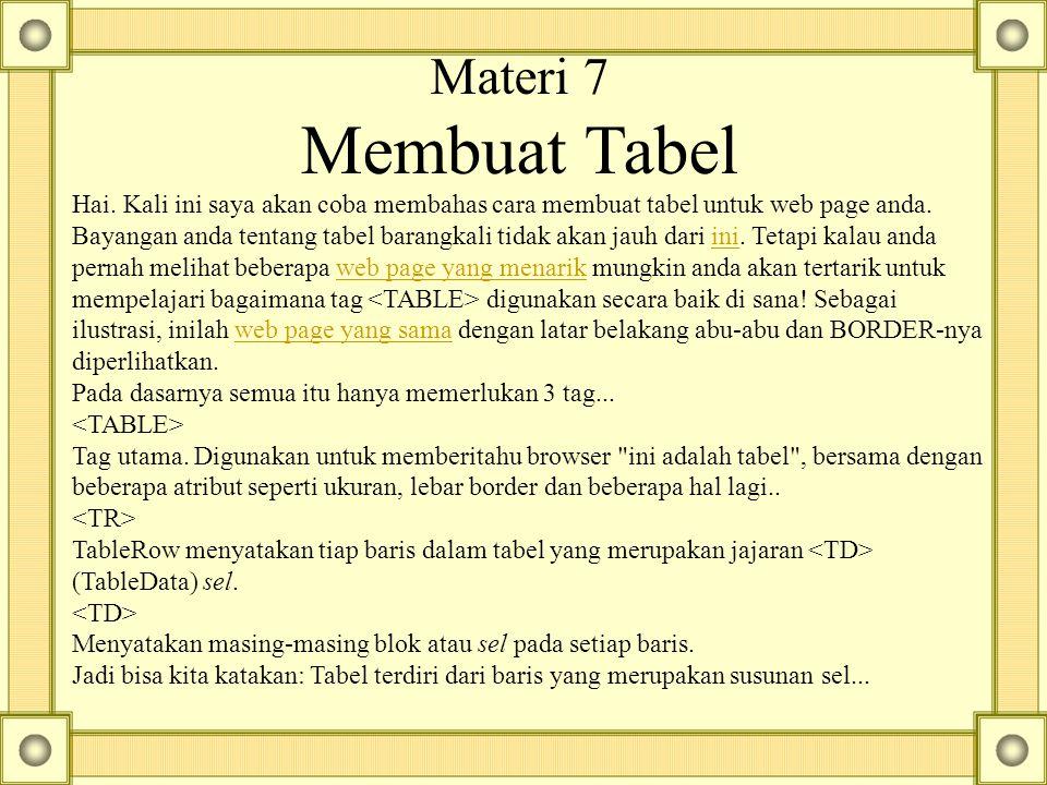 Materi 7 Membuat Tabel Hai.