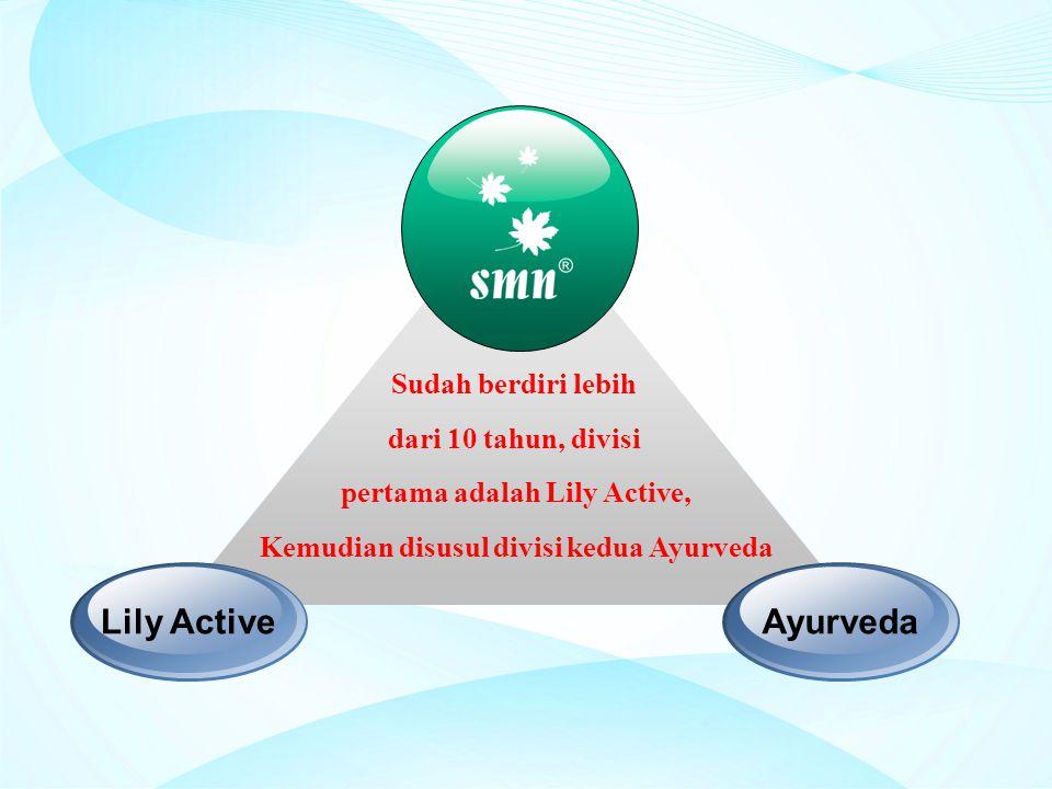 Sudah berdiri lebih dari 10 tahun, divisi pertama adalah Lily Active, Kemudian disusul divisi kedua Ayurveda Lily ActiveAyurveda