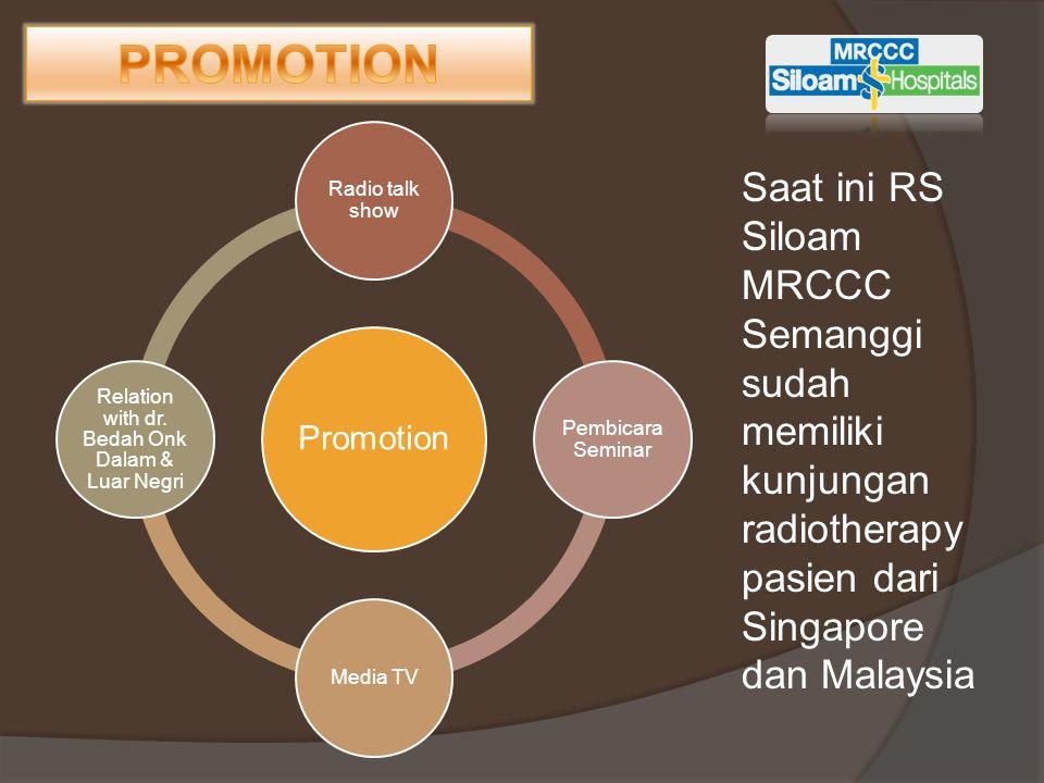 Promotion Radio talk show Pembicara Seminar Media TV Relation with dr. Bedah Onk Dalam & Luar Negri Saat ini RS Siloam MRCCC Semanggi sudah memiliki k