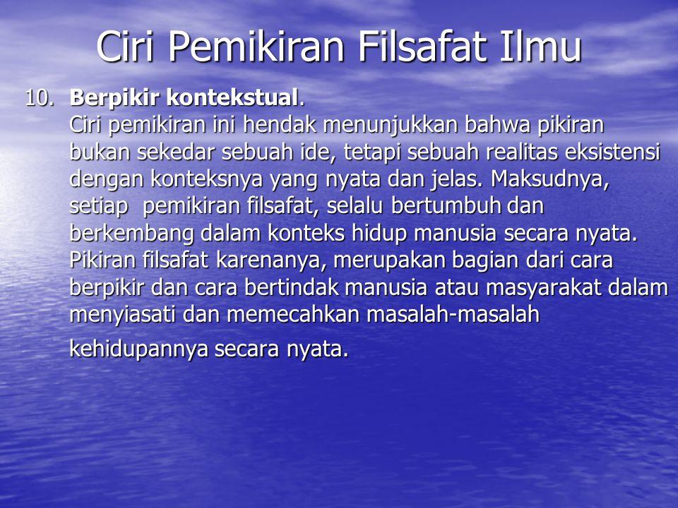 11.Berpikir eksistensial.