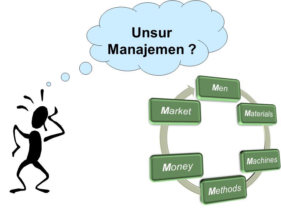 Unsur Manajemen ?