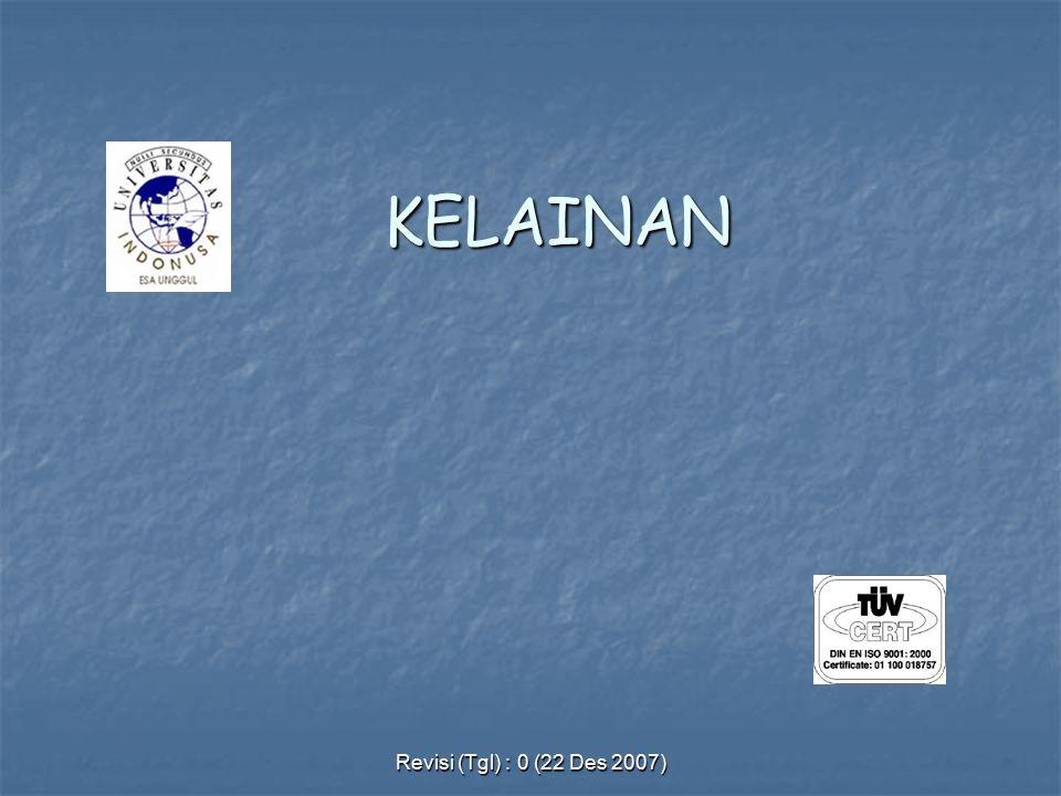 Revisi (Tgl) : 0 (22 Des 2007) KELAINAN