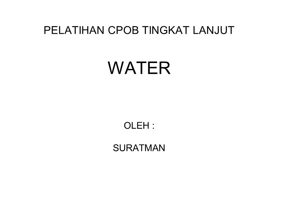  Highly Purified water (HPW) HPW is intended for use in the preparation of medicinal product where water of high biological quality is needed, exept where WFI is required (BP 2003) Diproduksi dengan cara : double passed RO dikombinasikan dengan ultrafiltrasi atau deionisasi.