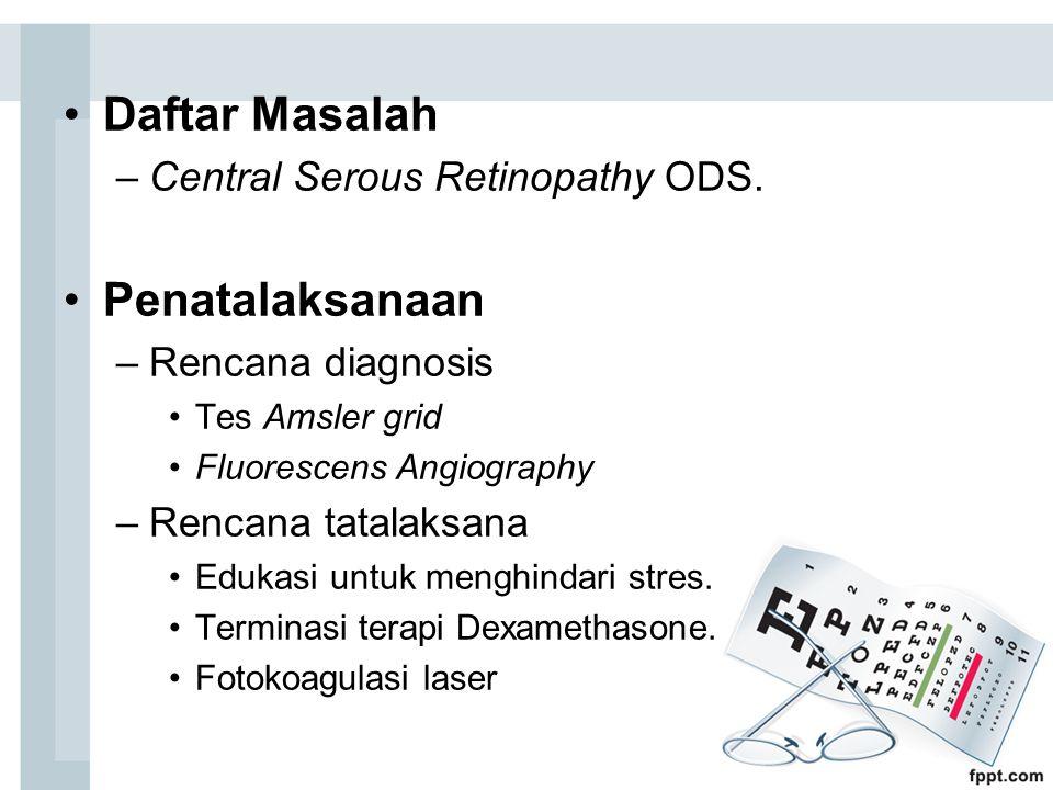 Daftar Masalah –Central Serous Retinopathy ODS.