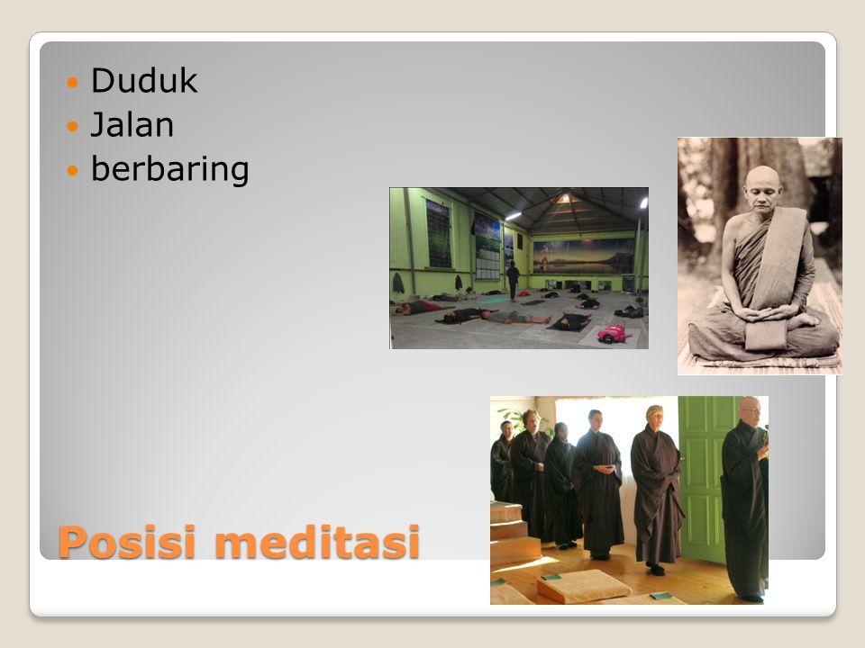 Posisi meditasi Duduk Jalan berbaring