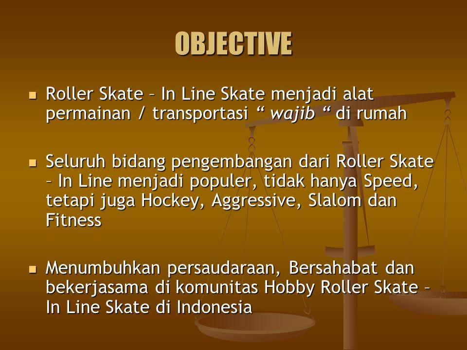 """OBJECTIVE Roller Skate – In Line Skate menjadi alat permainan / transportasi """" wajib """" di rumah Roller Skate – In Line Skate menjadi alat permainan /"""
