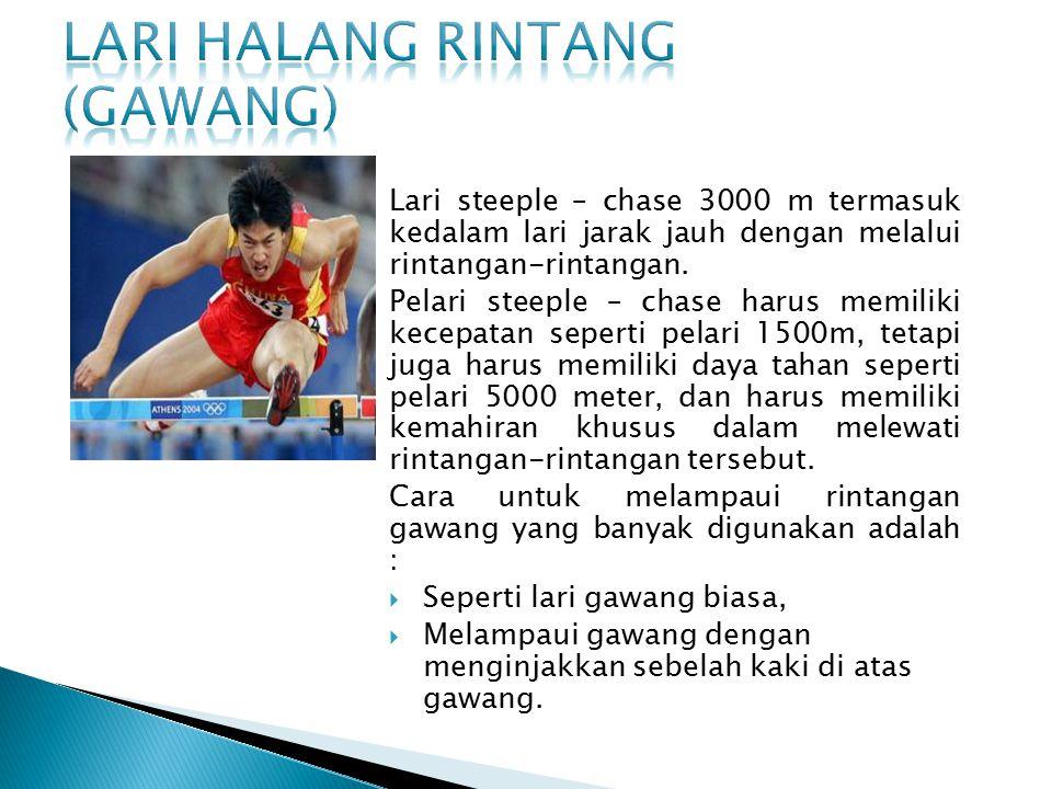 Nomor lari estafet yang sering diperlombakan adalah nomor 4 x 100 meter dan nomor 4 x 400 meter.