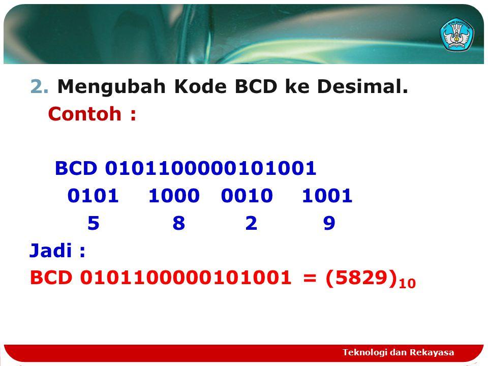 2.Mengubah Kode BCD ke Desimal.