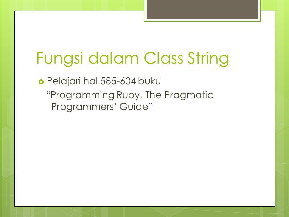 Latihan Buatlah program dengan tipe data string array of char) untuk melakukan: a.