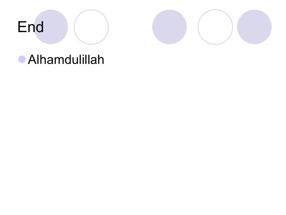 End Alhamdulillah