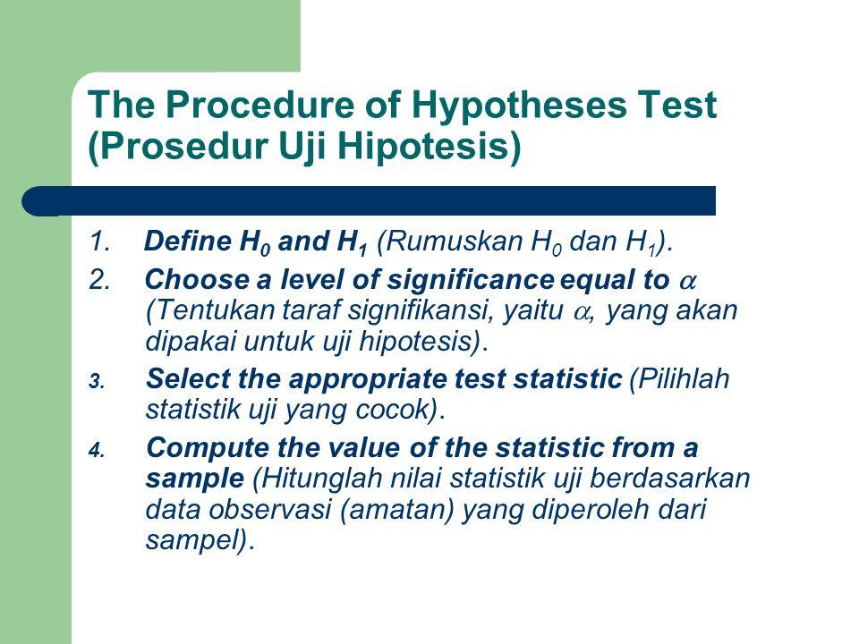 Prosedur uji hipotesis 5.