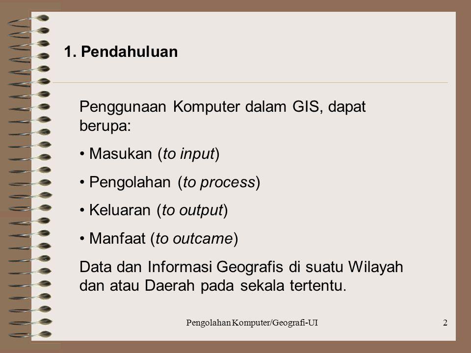 Pengolahan Komputer/Geografi-UI3 2.