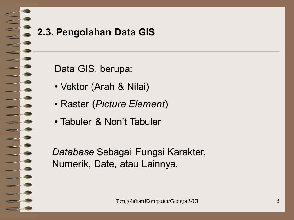 Pengolahan Komputer/Geografi-UI6 2.3.
