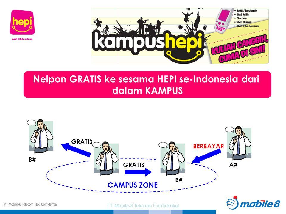 GRATIS B# A# BERBAYAR CAMPUS ZONE Nelpon GRATIS ke sesama HEPI se-Indonesia dari dalam KAMPUS