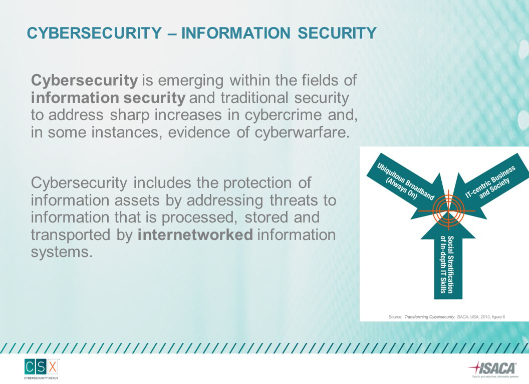 Cybersecurity is emerging within the fields of information security and traditional security to address sharp increases in cybercrime and, in some ins