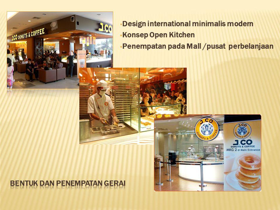 Design international minimalis modern Konsep Open Kitchen Penempatan pada Mall /pusat perbelanjaan