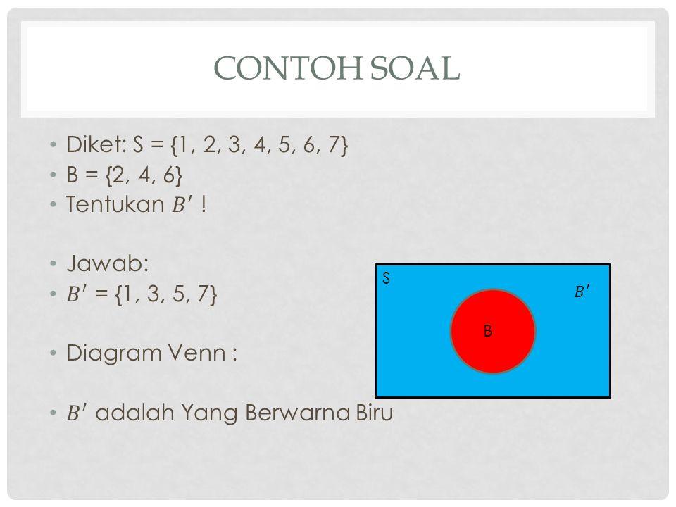CONTOH SOAL S B