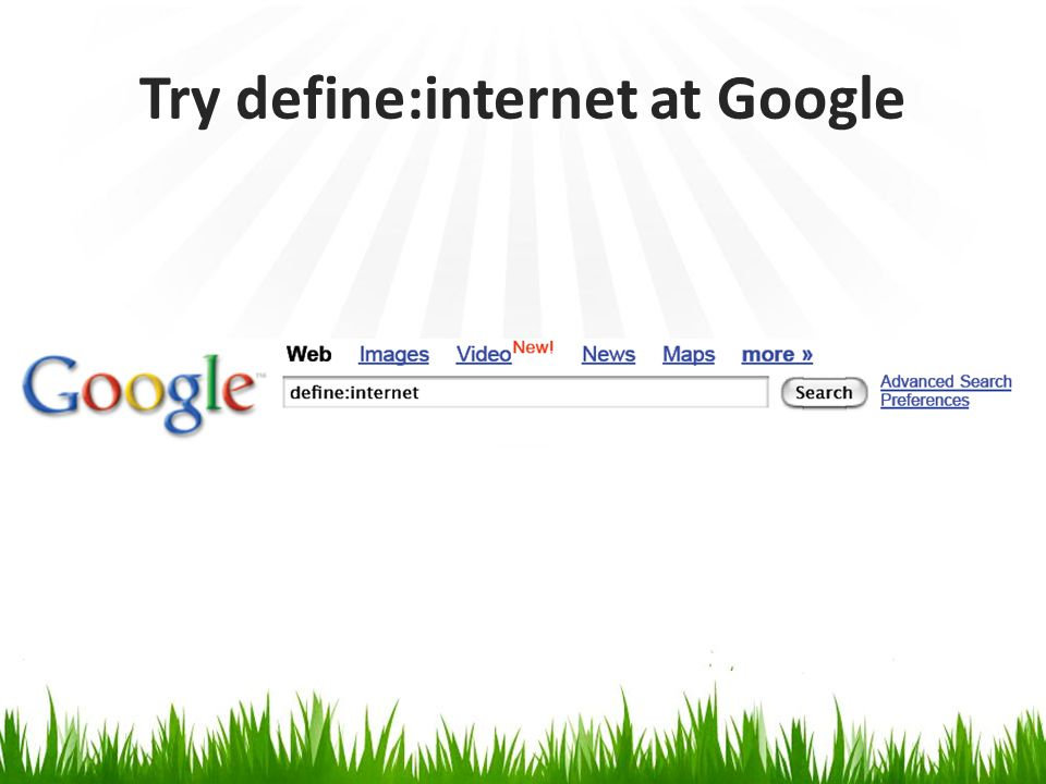 Try define:internet at Google