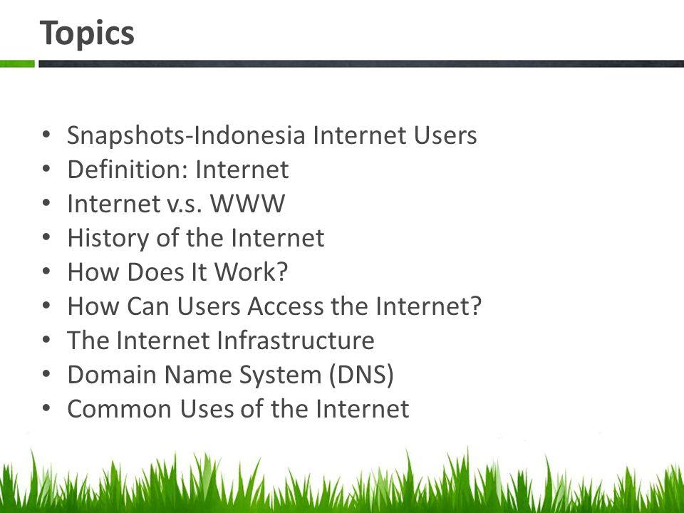 3.Internet menggunakan IP Number, WWW menggunakan URL WWW Internet