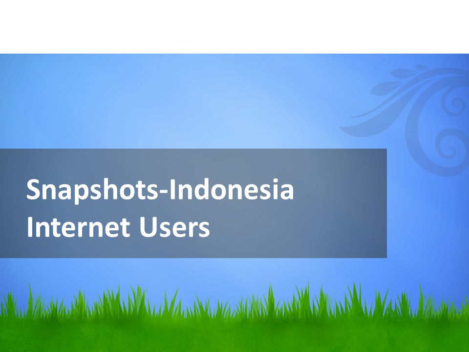 Snapshots-Indonesia Internet Users