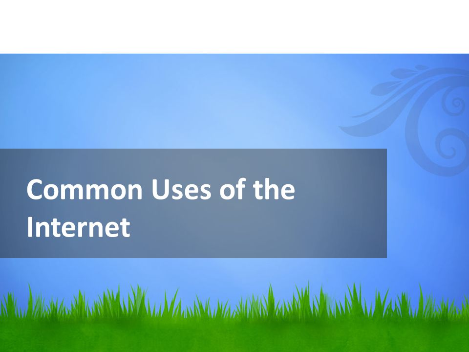 Common Uses of the Internet