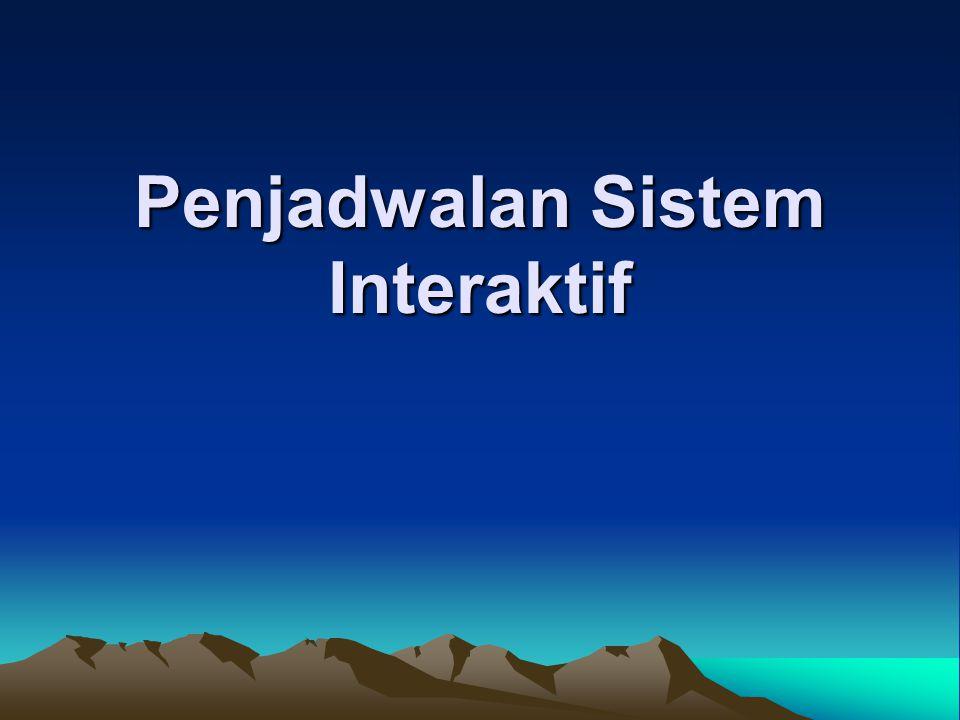 Penjadwalan Sistem Interaktif