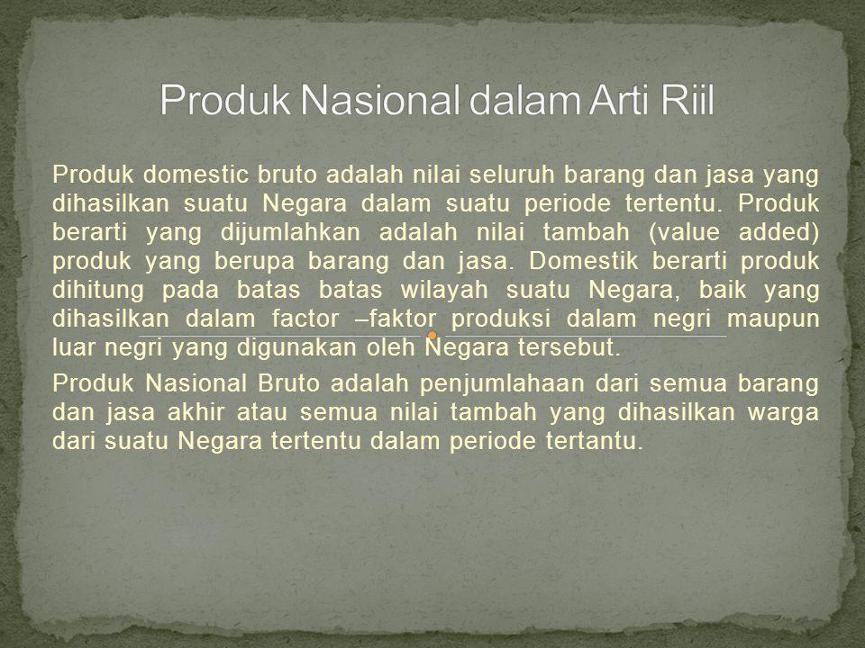Produk domestic bruto adalah nilai seluruh barang dan jasa yang dihasilkan suatu Negara dalam suatu periode tertentu.