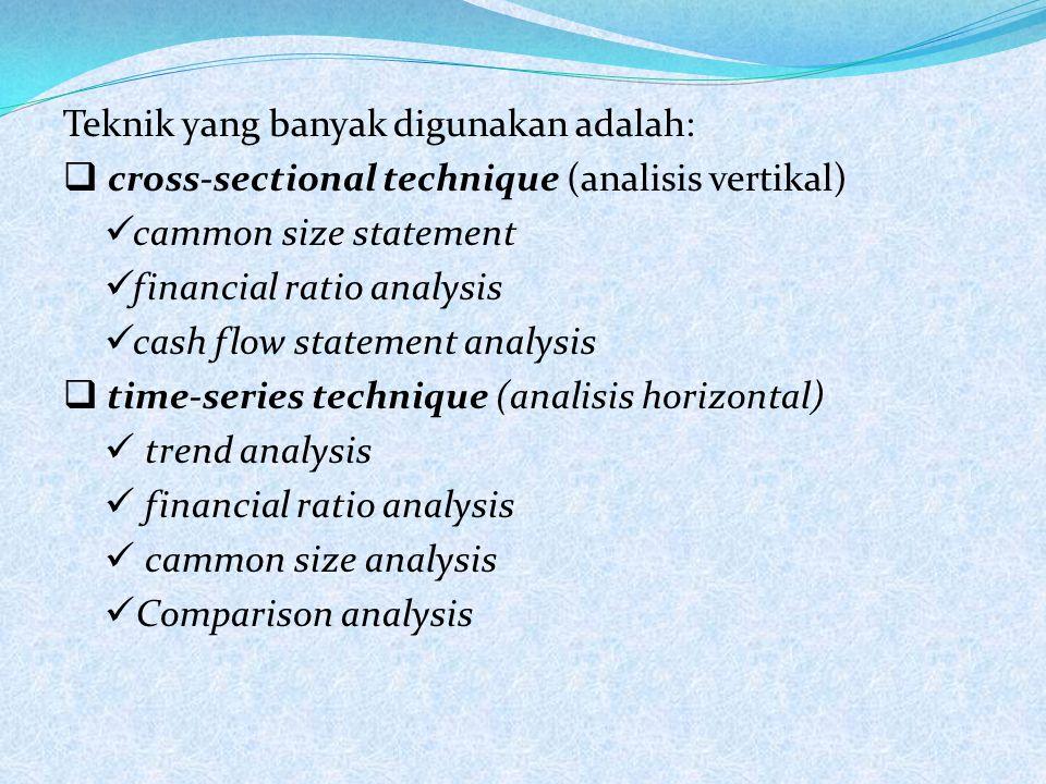 Dalam menganalisis dan menilai posisi keuangan, kemajuan, serta potensi dimasa mendatang, faktor utama yang mendapatkan perhatian para analisis adalah: 1)Likuidasi 2)Solvabilitas 3)Rentabilitas 4)Stabilitas dan perkembangan usaha