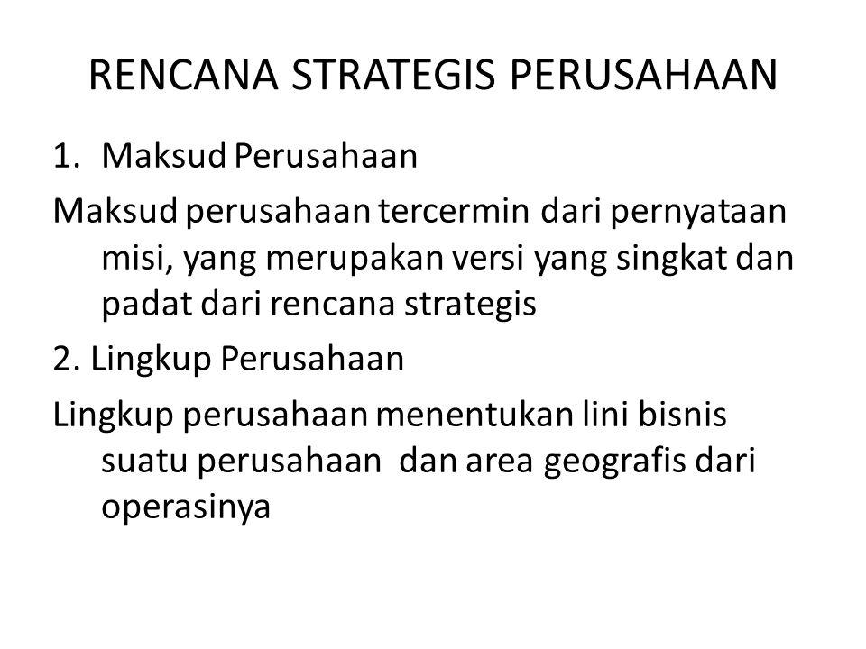 RENCANA STRATEGIS PERUSAHAAN 3.