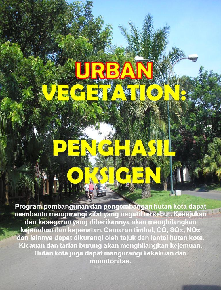 Program pembangunan dan pengembangan hutan kota dapat membantu mengurangi sifat yang negatif tersebut.