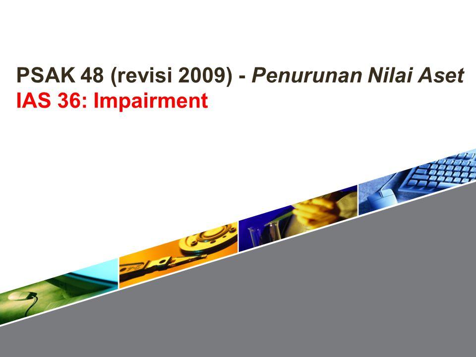 Bagian 1: Menguji penurunan nilai PT Kenanga Asumsi: depresiasi aset yang dapat diidentifikasi Rp 2 M selama tahun 2010 42 Kasus 4: Penurunan Nilai Goodwill Akhir tahun 2010GoodwillAset diidentifikasi Penurunan NilaiTotal AssGoodwill Nilai tercatat brutoRp 10 MRp 30 MRp 40 M Akumulasi depresiasi-(3 M) Nilai tercatat10 M27 M37 M Penurunan nilai7 M10 M17 M Pihak pengendali8 M21.6 M5.6 M8 M Kepemilikan minoritas2 M5.4 M1.4 M2 M Nilai setelah penurunanRp 10 MRp 27 M(7)M(10)Rp 20 M Solusi Kasus