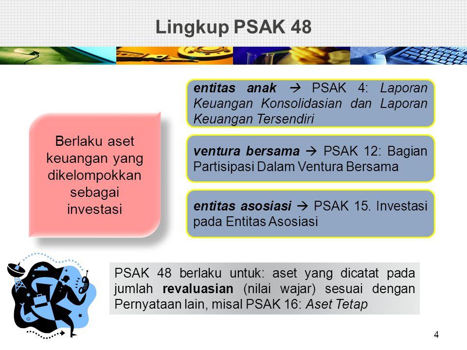  Tidak mungkin mengestimasi jumlah terpulihkan aset individual  menentukan nilai terpulihkan dari unit penghasil kas yang mana aset tercakup (aset dari unit penghasil kas = UPK).
