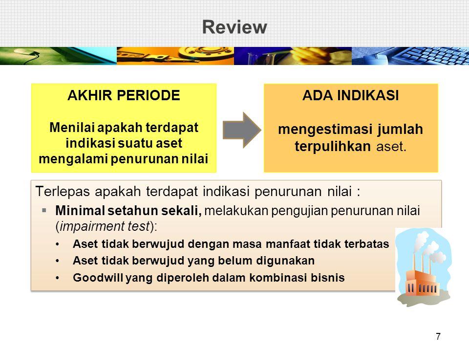 Kasus 4: Penurunan Nilai Goodwill PT Lily memiliki 80% kepemilikan PT Kenanga dengan membayar Rp 32 M pada 1 Januari 2010.