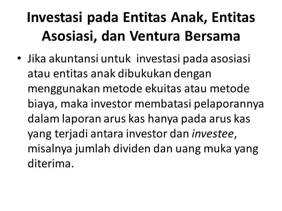 Investasi pada Entitas Anak, Entitas Asosiasi, dan Ventura Bersama Jika akuntansi untuk investasi pada asosiasi atau entitas anak dibukukan dengan men