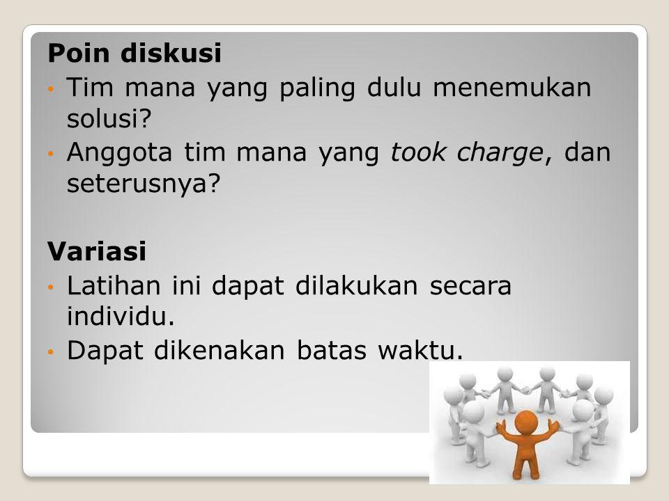 Prosedur Katakan kepada anggota kelompok bahwa mereka akan berpartisipasi dalam suatu kegiatan pemecahan masalah.