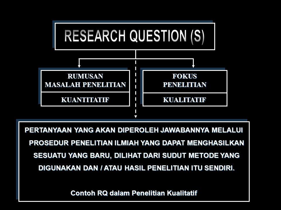 PERSIAPANPENELITIAN  Menentukan fokus penelitian (RQ)  Studi Kepustakaan  Kerangka Pemikiran & pendekatan  Prosedur / Metode PenelitianPERSIAPANPENELITIAN  Menentukan fokus penelitian (RQ)  Studi Kepustakaan  Kerangka Pemikiran & pendekatan  Prosedur / Metode Penelitian PERSIAPAN PENGUMPULAN DATA  Penyusunan instrumen penelitian  Penentuan Informan  Pra Lapangan Observasi PendahuluanPERSIAPAN PENGUMPULAN DATA  Penyusunan instrumen penelitian  Penentuan Informan  Pra Lapangan Observasi Pendahuluan PENGUMPULANDATA  Pengumpulan data sekunder  Pengumpulan data primer : -Observasi - Wawancara mendalamPENGUMPULANDATA  Pengumpulan data sekunder  Pengumpulan data primer : -Observasi - Wawancara mendalam PENGOLAHANDATA  Transkrip  Klasifikasi dataPENGOLAHANDATA  Transkrip  Klasifikasi data ANALISISDATA  Interpretasi data  Kerangka penulisan laporanANALISISDATA  Interpretasi data  Kerangka penulisan laporan PENULISANLAPORAN PENELITIAN PENELITIANPENULISANLAPORAN PRESENTASILAPORAN PRESENTASILAPORAN