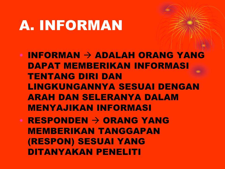 PROSES MENGUMPULKAN DATA 1.MEMASUKI LAPANGAN (GETTING IN) 2.BERADA DI LAPANGAN ( GETTING A LONG) 3.MENGUMPULKAN DATA ( LOGING IN DATA)