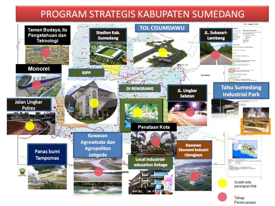 Monorel Taman Budaya, Ilu Pengetahuan dan Teknologi Penataan Kota Sudah ada persiapan fiisk Tahap Perencanaan