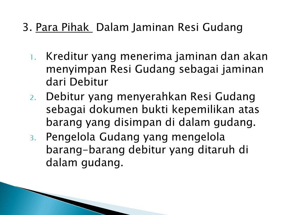 3.Para Pihak Dalam Jaminan Resi Gudang 1.