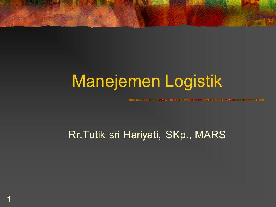 1 Manejemen Logistik Rr.Tutik sri Hariyati, SKp., MARS
