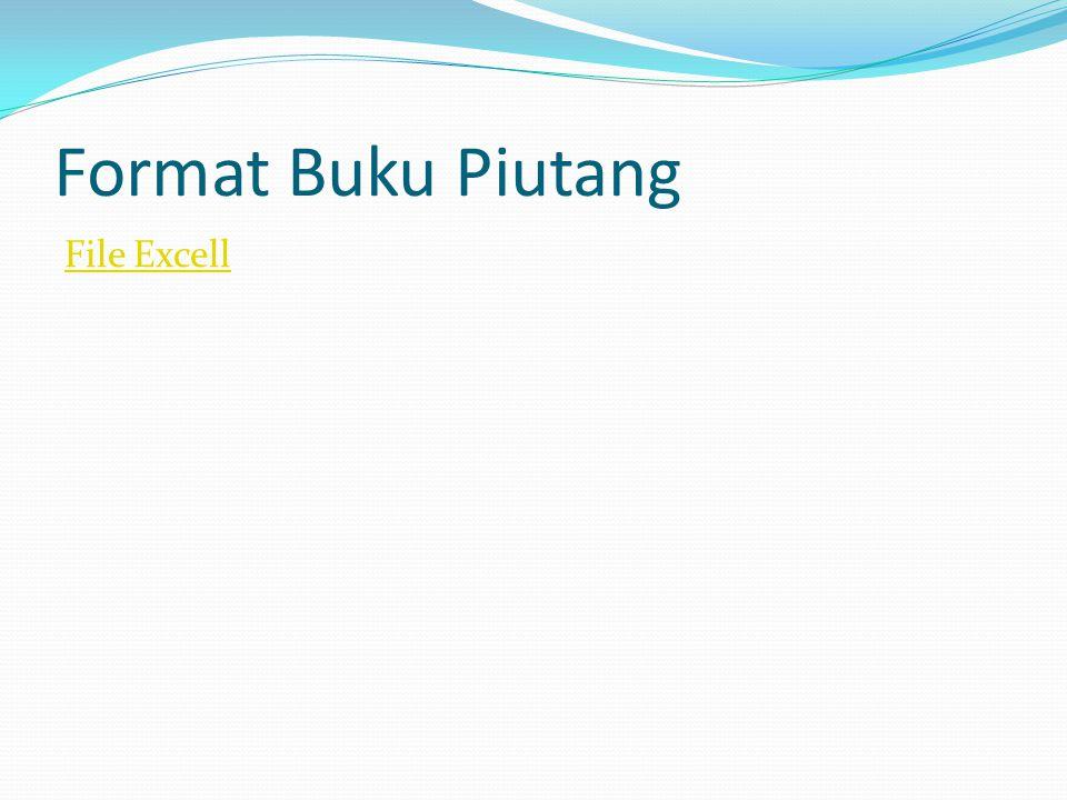 Format Buku Piutang File Excell