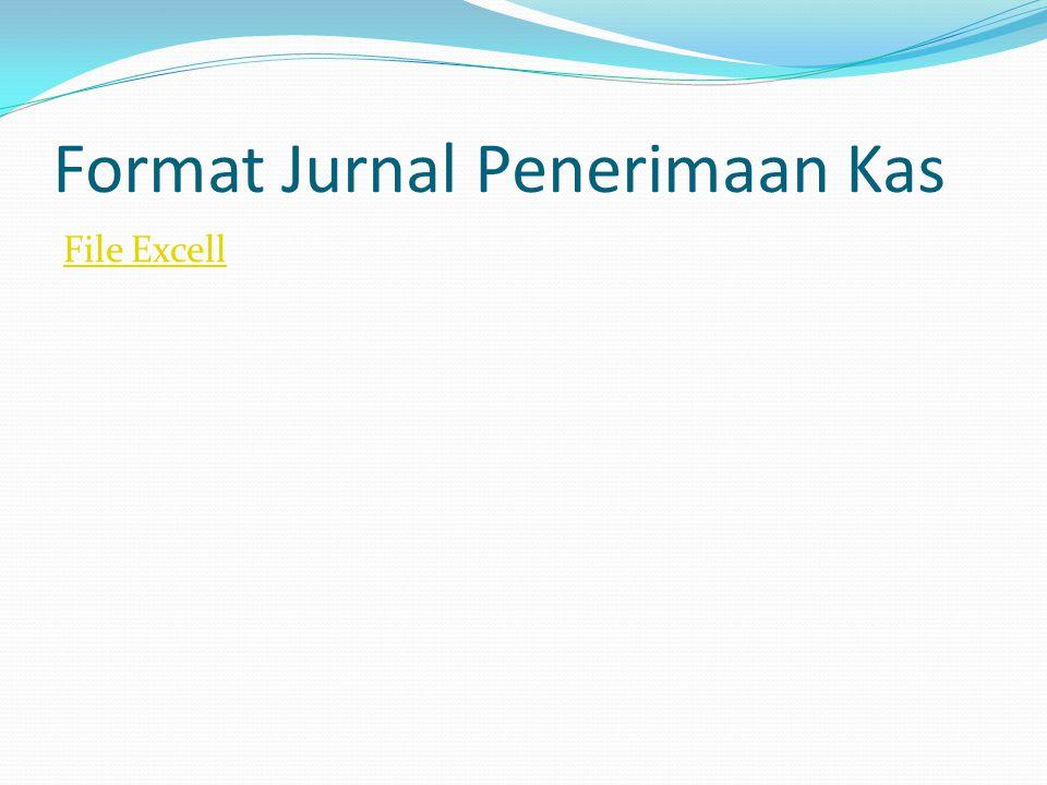 Format Jurnal Penerimaan Kas File Excell