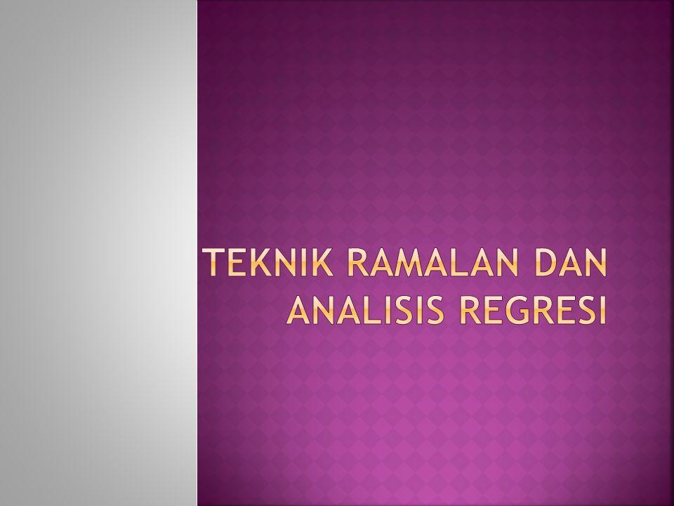 Menghitung suatu perkiraan atau persamaan regresi yang akan menjelaskan hubungan antara 2 variabel.