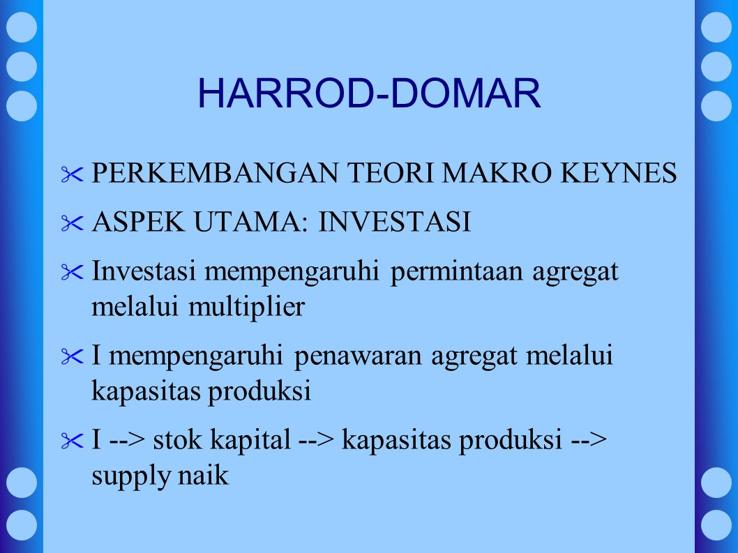 HARROD-DOMAR