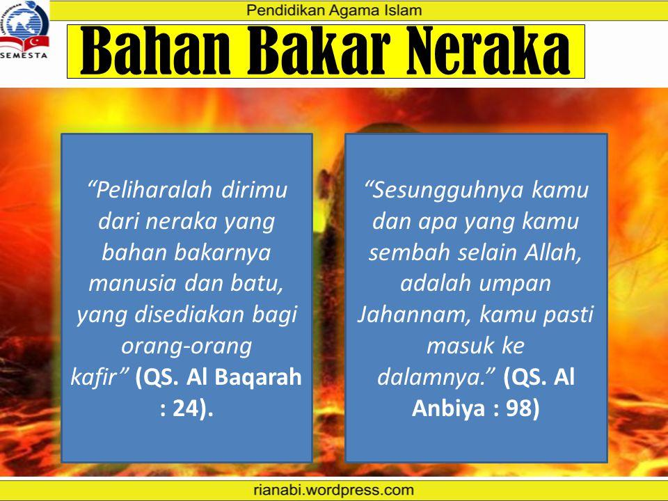 """Dari Abu Hurairah ra, """"Kami bersama Rasulullah saw, tiba- tiba terdengar suara benda jatuh. Maka Nabi saw bertanya, 'Tahukah kalian apakah itu?' Kami"""
