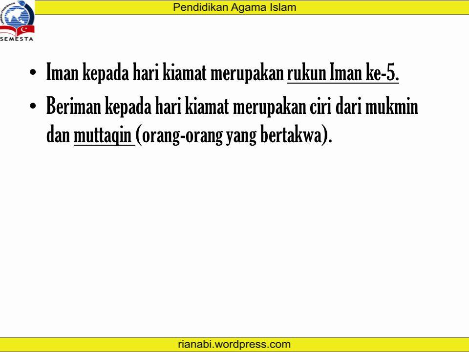 """QS. Al-Hajj: 7 """"SESUNGGUHNYA HARI KIAMAT ITU PASTILAH DATANG, TIDAK ADA KERAGUAN PADANYA DAN BAHWASANYA ALLAH MEMBANGKITKAN SEMUA ORANG DI DALAM KUBUR"""