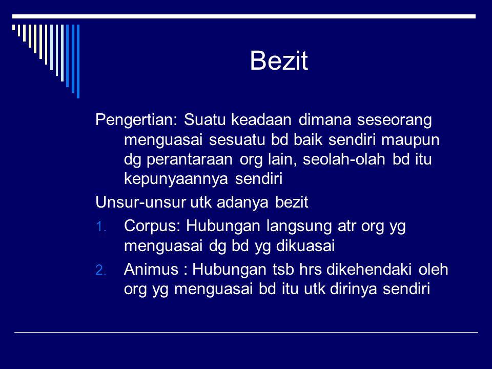 Fungsi Bezit 1.