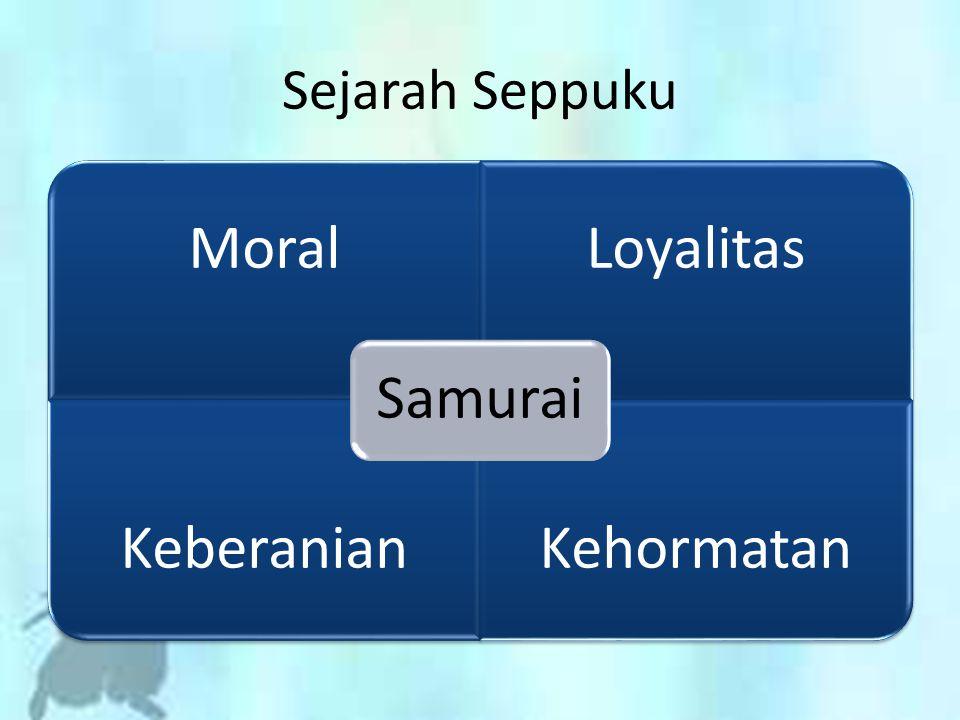 MoralLoyalitas KeberanianKehormatan Samurai Sejarah Seppuku