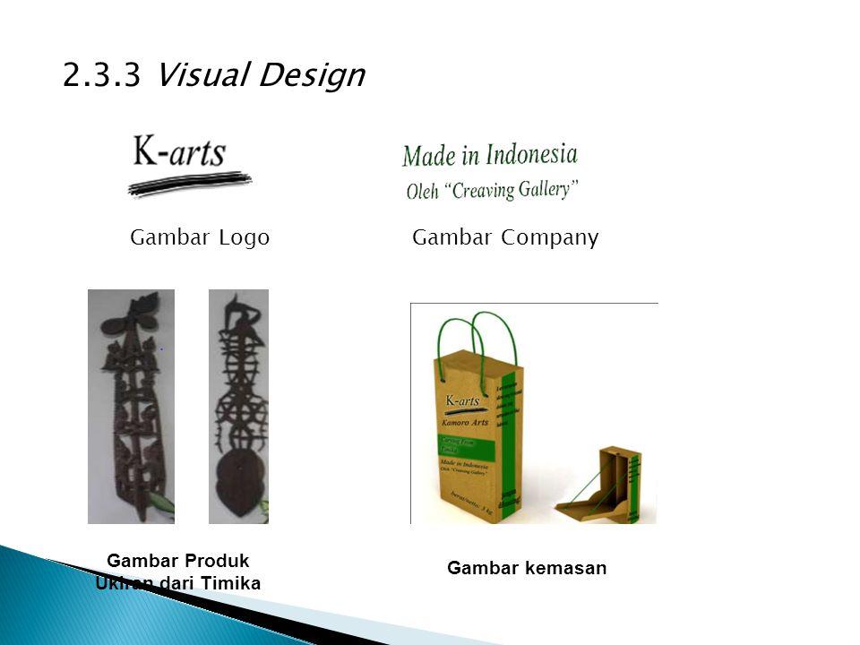 2.3.3 Visual Design Gambar LogoGambar Company Gambar Produk Ukiran dari Timika Gambar kemasan